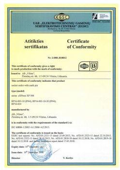 EGSC sertificate No. LS801.B18012