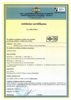 EGSC sertifikatas Nr. LS801.B19012