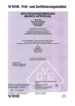 VDE sertificate No. 40047921