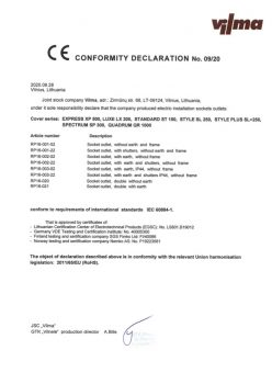 VILMA CE Conformity Declaration so en